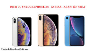 Unlock iPhone XS XS Max XR ở đâu ?